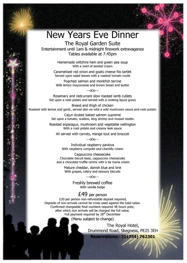 New Years Eve - The Royal Garden Suite