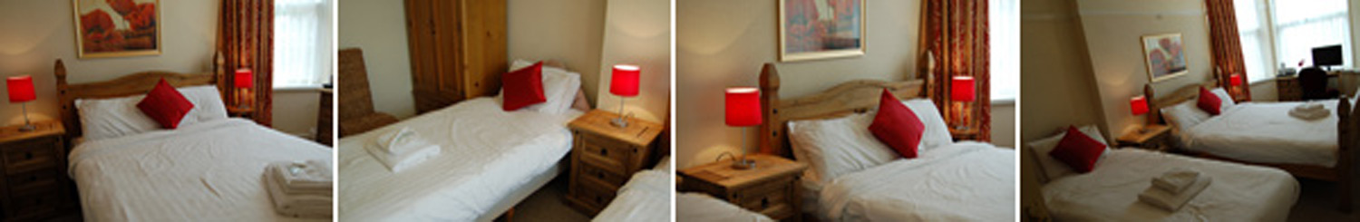 Family bedrooms - from £92.00 - Click to enlarge