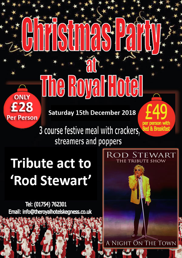 Rod Stewart tribute Party Night